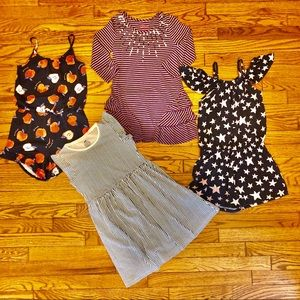 Bundle of Girl's Dresses & Rompers, Size 6-8